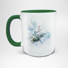 Mug Bicolore en céramique personnalisé vert
