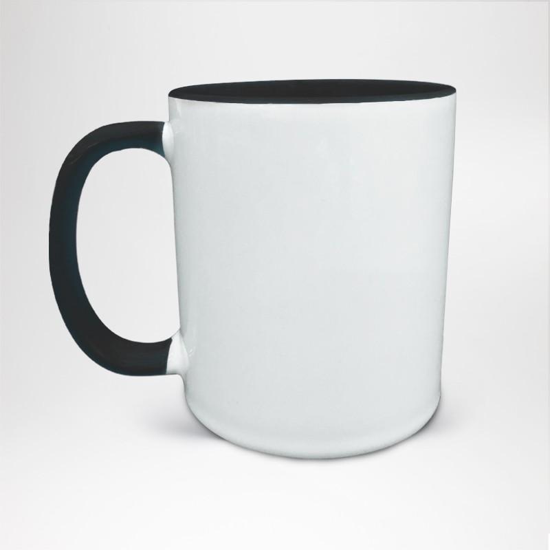 Mug Bicolore en céramique personnalisé noir