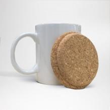 Couvercle en liège pour mug personnalisé