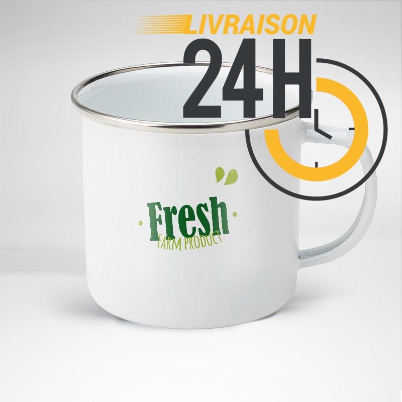 Mug en acier émaillé personnalisé | 24H Chrono