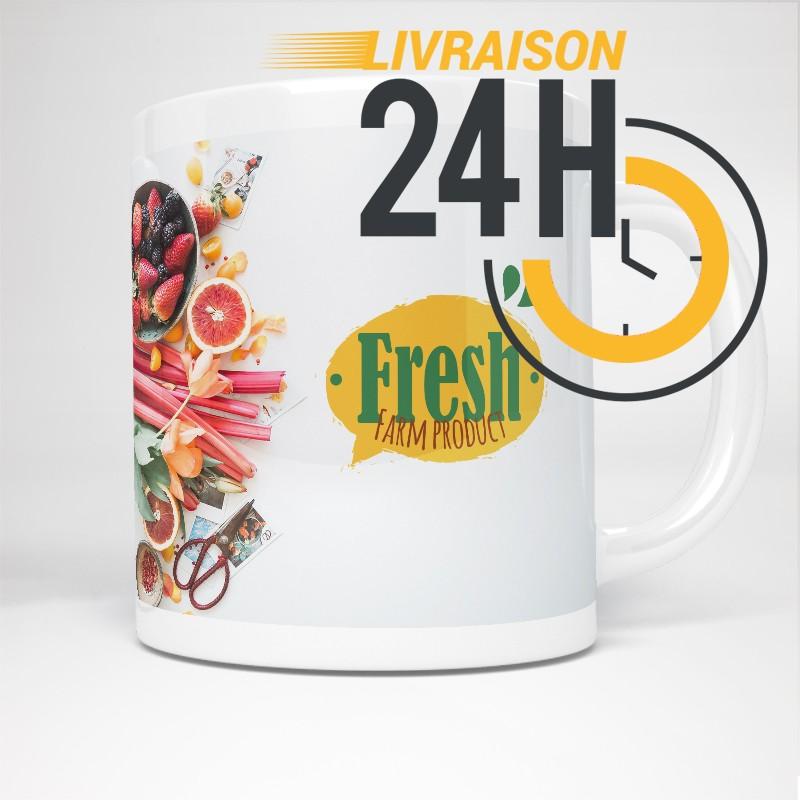 Mug en céramique personnalisé | 24H Chrono