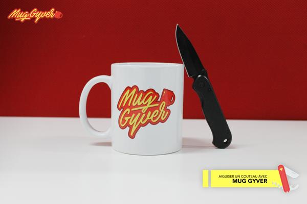 Aiguiser une lame avec un mug