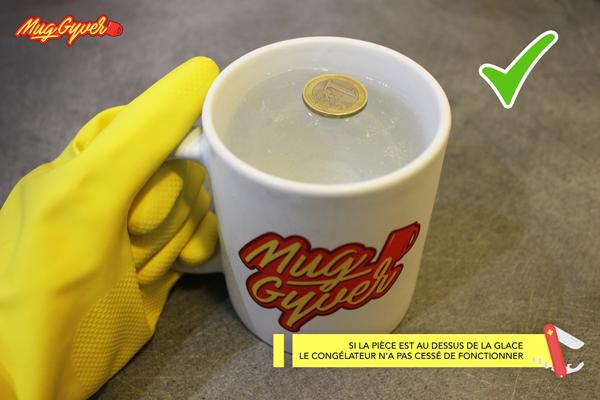 Utiliser un mug en témoin de décongélation