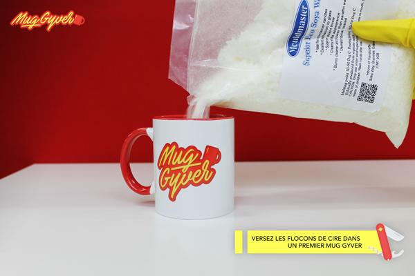 Faire une bougie dans un mug