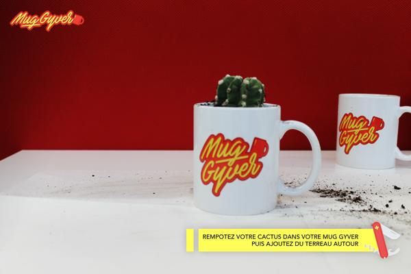 Utiliser mug en pot à cactus