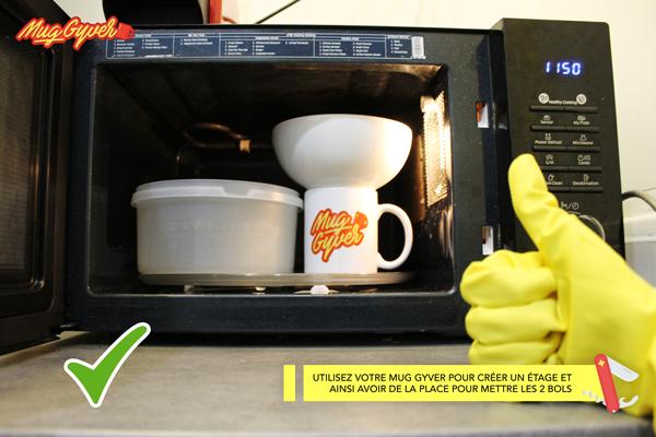 Mettre 2 mugs dans le micro-onde